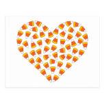 Corazón de las pastillas de caramelo postal