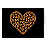 Corazón de las pastillas de caramelo tarjetón