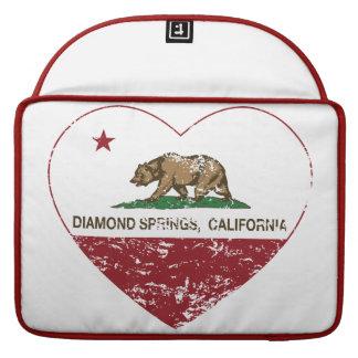 corazón de las primaveras del diamante de la bande funda para macbook pro