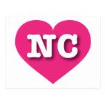 Corazón de las rosas fuertes de Carolina del Norte Tarjetas Postales