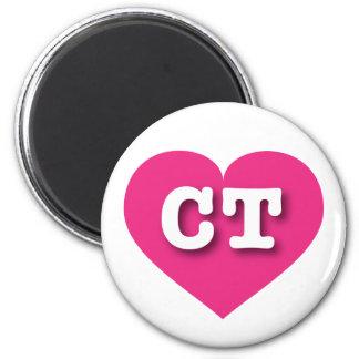 Corazón de las rosas fuertes de Connecticut - amor Imán Redondo 5 Cm
