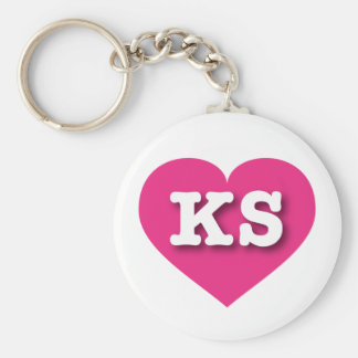 Corazón de las rosas fuertes de Kansas - amor Llavero Redondo Tipo Pin