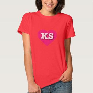 Corazón de las rosas fuertes de Kansas - amor Polera
