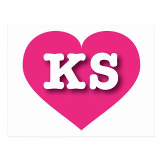 Corazón de las rosas fuertes de Kansas - amor Postales