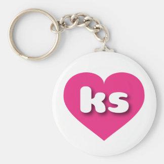 corazón de las rosas fuertes de Kansas - mini amor Llavero Redondo Tipo Pin