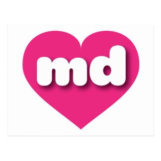 Corazón de las rosas fuertes de Maryland - mini Postales