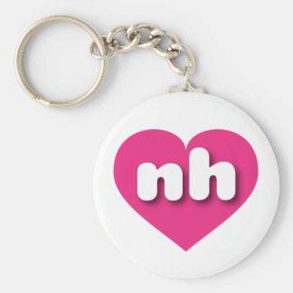 Corazón de las rosas fuertes de New Hampshire nh Llavero Redondo Tipo Pin