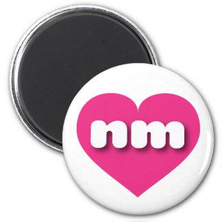 Corazón de las rosas fuertes de New México Imán Redondo 5 Cm