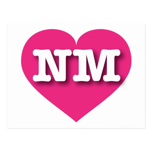 Corazón de las rosas fuertes de New México Tarjeta Postal