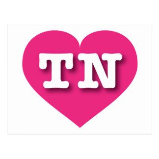 Corazón de las rosas fuertes de Tennessee TN Postales