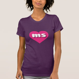 Corazón de las rosas fuertes del ms de Mississippi Playeras