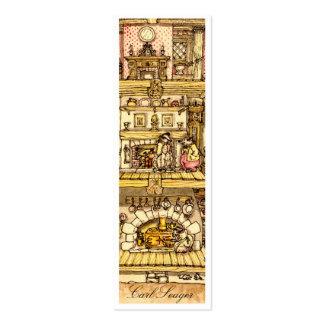 Corazón de las tarjetas de llamada de la cabaña de tarjetas de visita mini