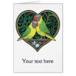 Corazón de las tarjetas del día de San Valentín: A