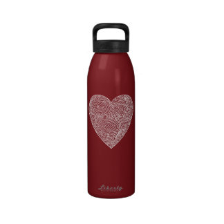 Corazón de las tarjetas del día de San Valentín Botella De Agua Reutilizable