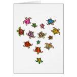 Corazón de las tortugas tarjeta de felicitación