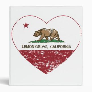 "corazón de Lemon Grove de la bandera de California Carpeta 1"""