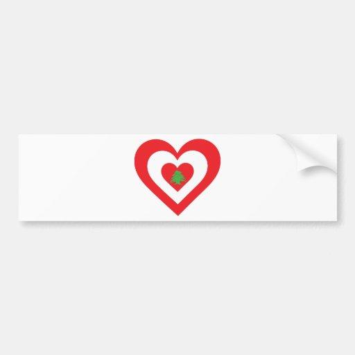 Corazón de Líbano Etiqueta De Parachoque