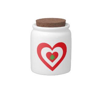 Corazón de Líbano Platos Para Caramelos