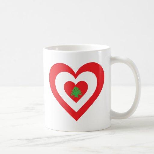 Corazón de Líbano Taza Básica Blanca