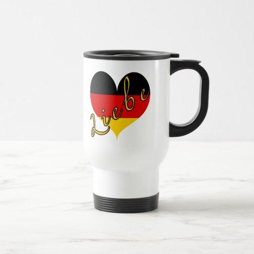 Corazón de Liebe (amor) Alemania Taza