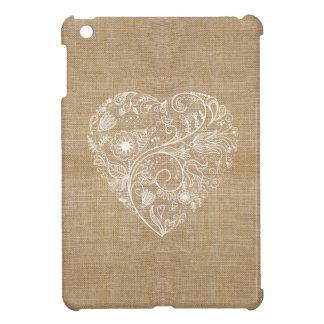 Corazón de lino de la flor de la arpillera