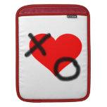 Corazón de los abrazos y de los besos mangas de iPad