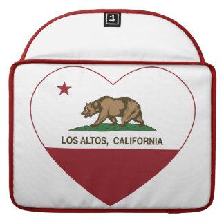 corazón de los altos del los de la bandera de Cali Fundas Para Macbook Pro