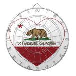 corazón de Los Ángeles de la bandera de California Tablero De Dardos
