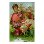 Corazón de los ángeles del Victorian del día de Sa Impresiones