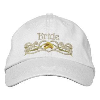 Corazón de los anillos de bodas - novia gorros bordados