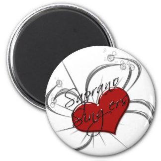 Corazón de los cantantes de Saprono del amor Imanes Para Frigoríficos