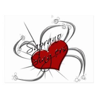 Corazón de los cantantes de Saprono del amor Tarjeta Postal