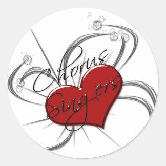 Corazón de los cantantes del estribillo del amor etiqueta