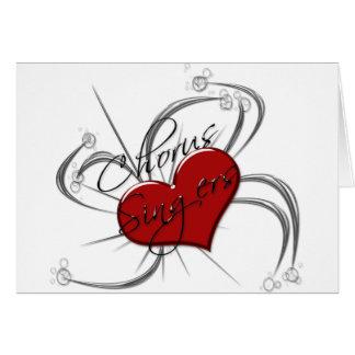 Corazón de los cantantes del estribillo del amor tarjeta