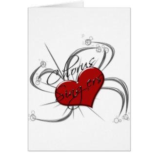 Corazón de los cantantes del estribillo del amor tarjeta de felicitación