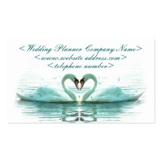 Corazón de los cisnes que casan al planificador plantilla de tarjeta personal
