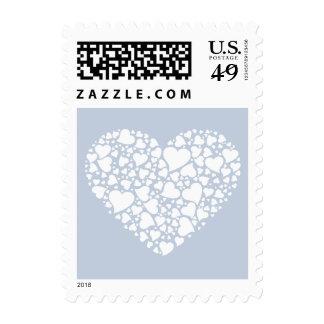 Corazón de los corazones - azules claros sello
