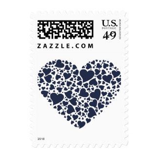 Corazón de los corazones - azules marinos timbre postal