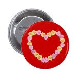 Corazón de los corazones del caramelo de la tarjet pins
