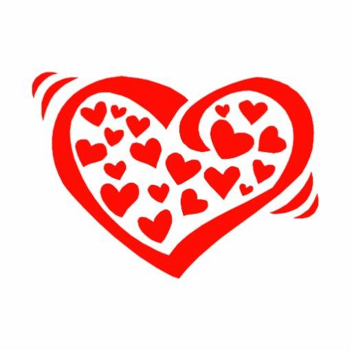 corazón de los corazones rojos fotoescultura vertical