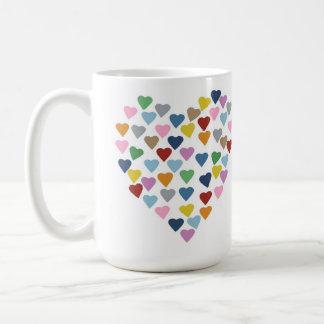Corazón de los corazones taza básica blanca