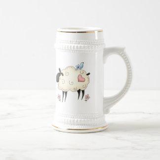 Corazón de los corderos taza de café