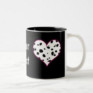 Corazón de los Dalmatians Taza Dos Tonos
