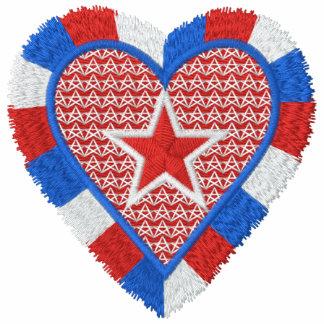 Corazón de los E.E.U.U. Polo Bordado