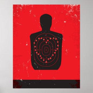 Corazón de los ejercicios de tiro póster