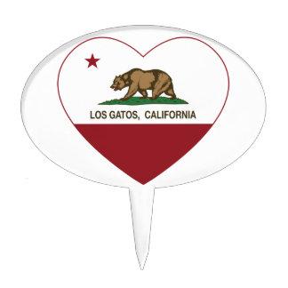 corazón de los gatos del los de la bandera de Cali Figura De Tarta
