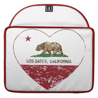 corazón de los gatos del los de la bandera de Cali Fundas Macbook Pro