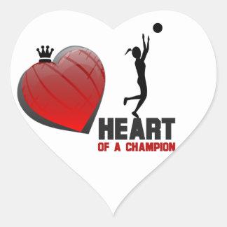 Corazón de los pegatinas del campeón de un balonce calcomanías corazones