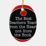 corazón de los profesores adornos de navidad