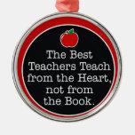 corazón de los profesores ornaments para arbol de navidad